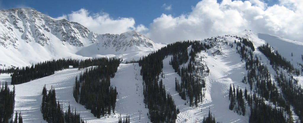 a landscape photo of A-Basin in Summit County, Colorado