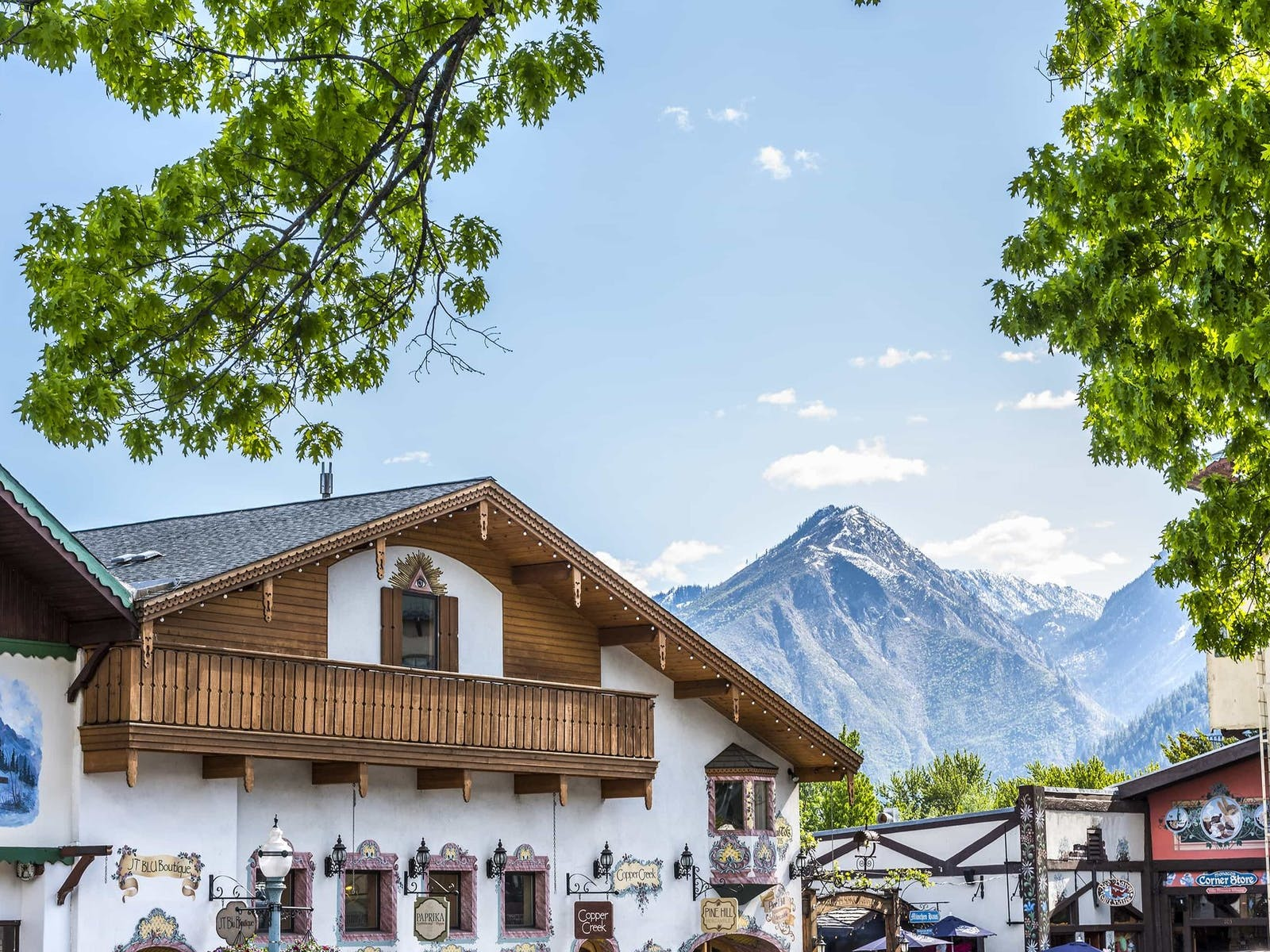 Leavenworth's Bavarian architecture