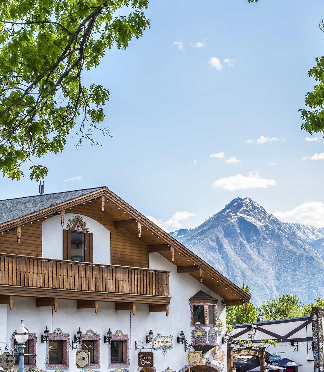 Leavenworth's Bavarian architecture