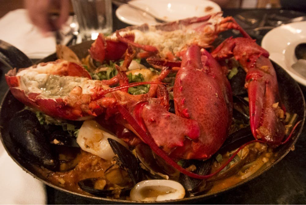 a whole main lobster at Street & Co. lobster diavolo
