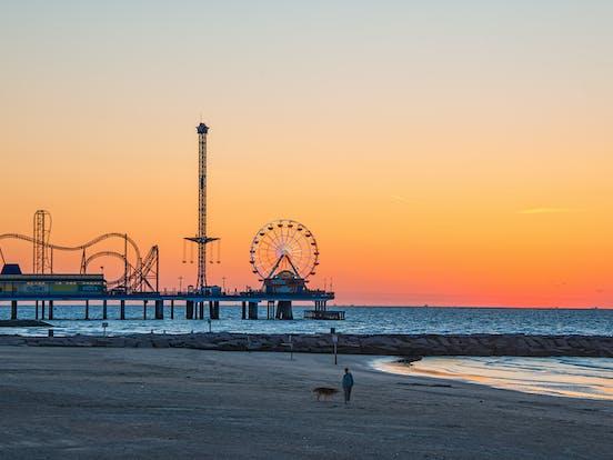 Galveston Texas beach and pier
