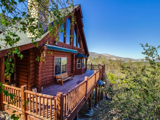 Log cabin vacation rental located in Big Bear Lake, CA