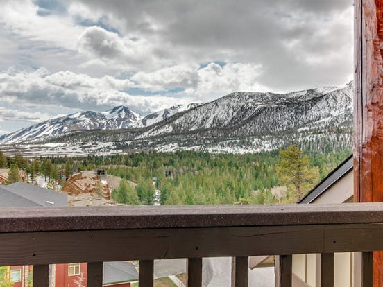 View of majestic mountains located in Mammoth Lakes, CA