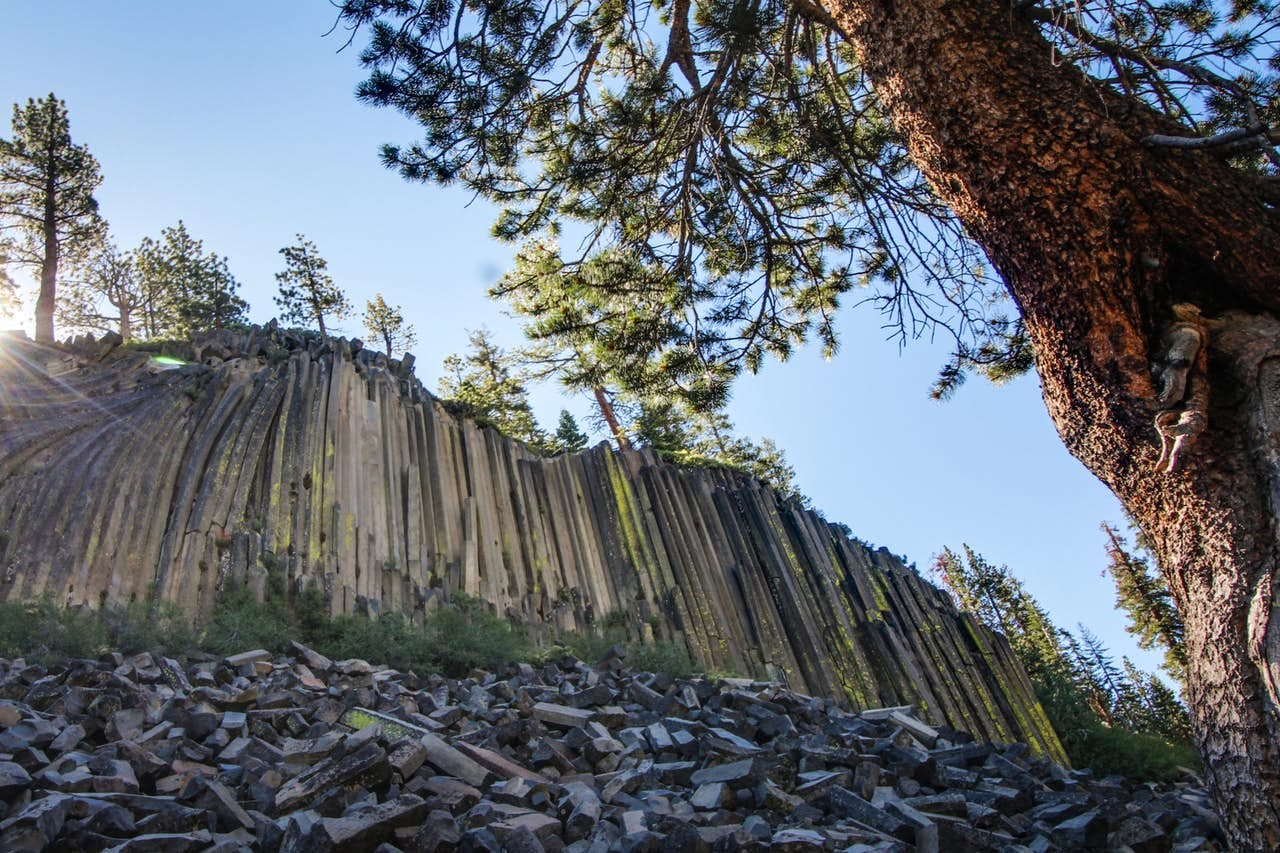 Beautiful rock formation in Mammoth Lakes, CA