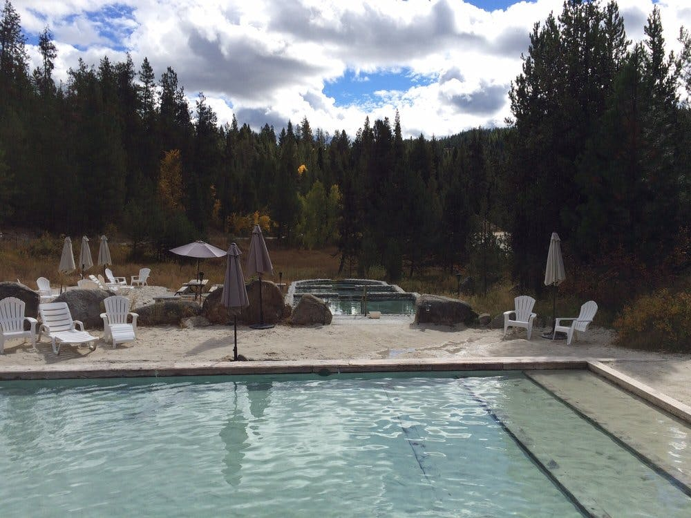 Gold Fork Hot Springs near McCall, Idaho