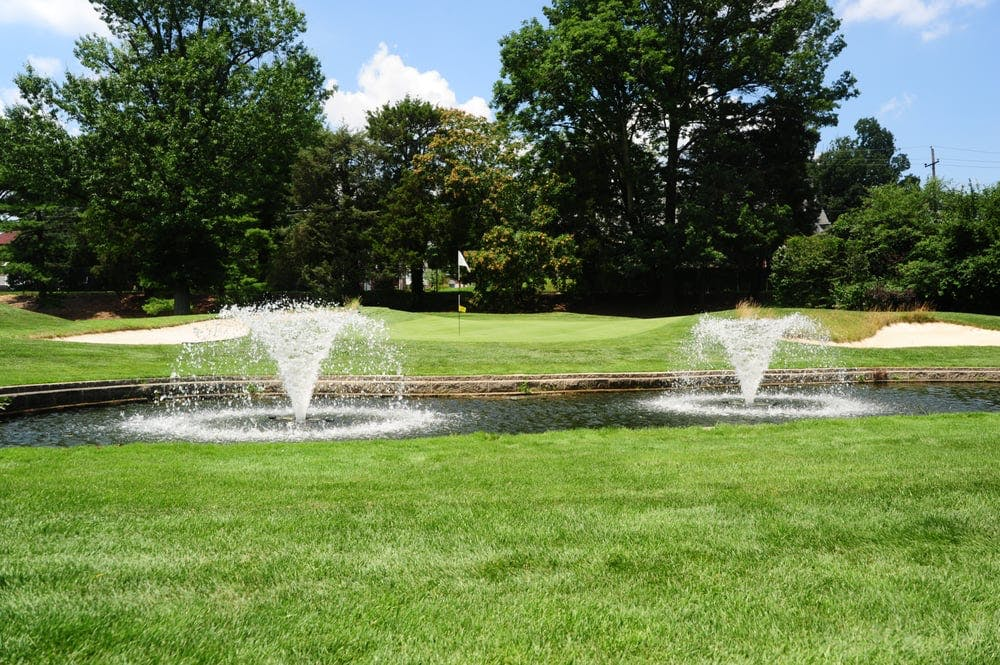 water fountains on display at the McCall Golf Club