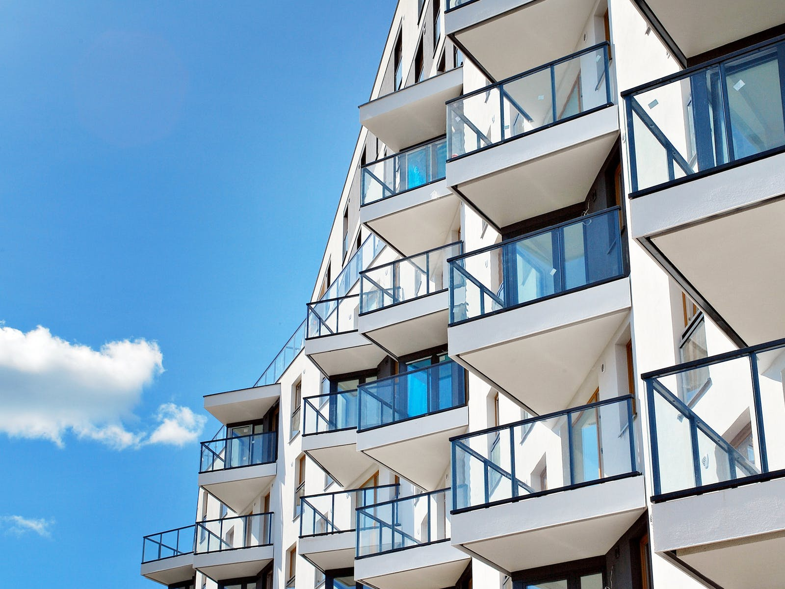 an exterior view of the decks of a multifamily complex