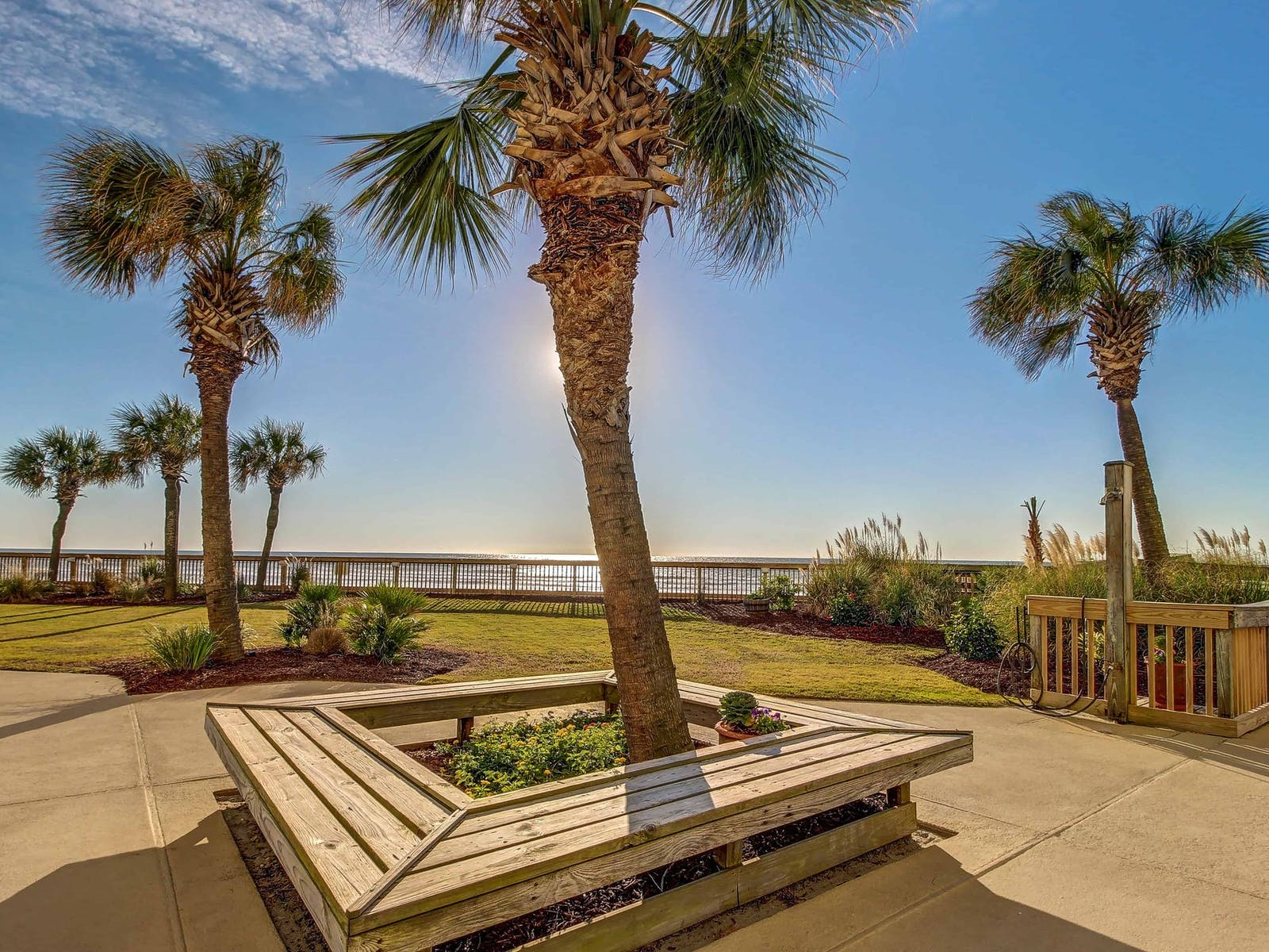 Ocean views from boardwalk in Myrtle Beach