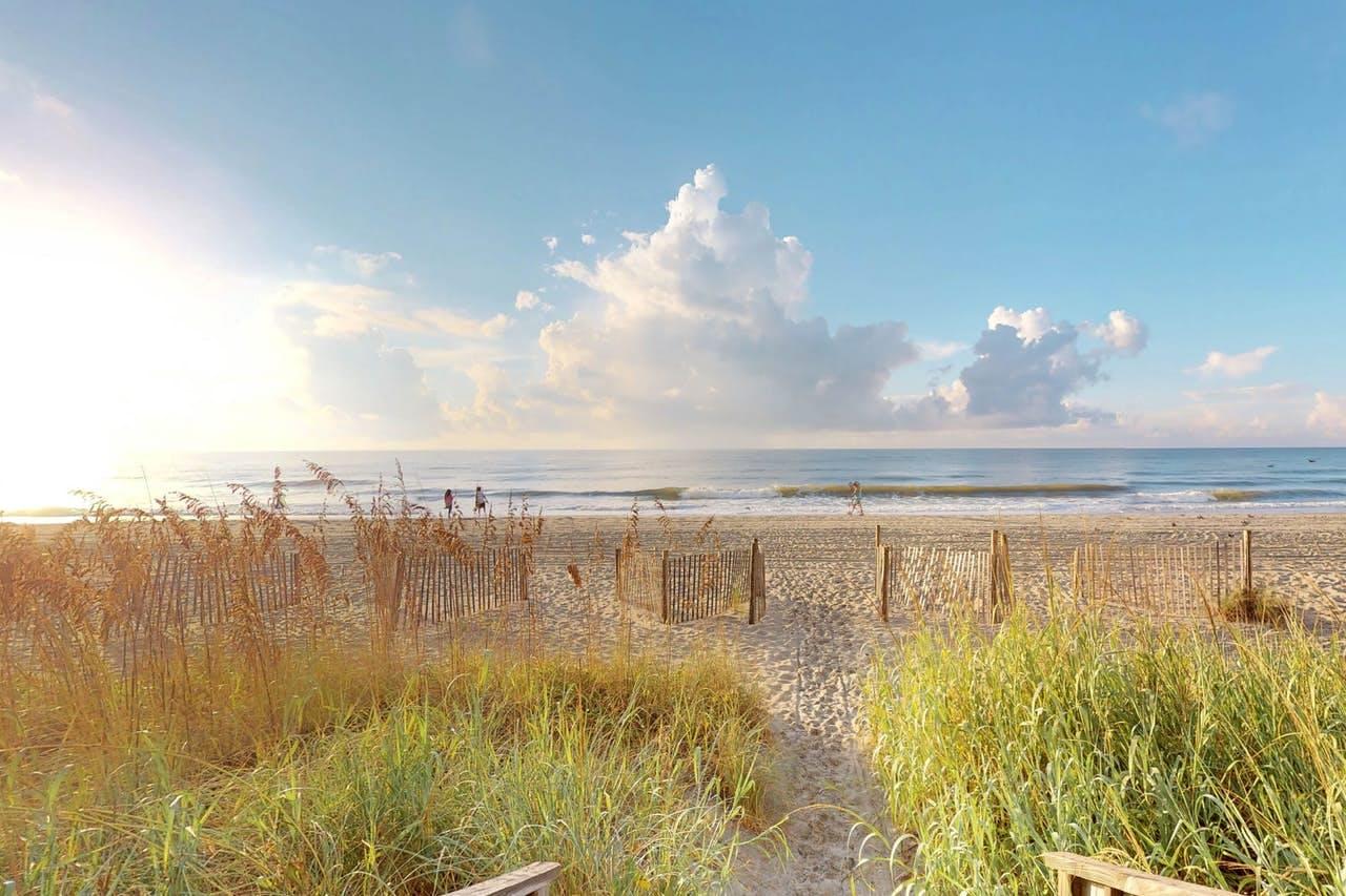View of Atlantic Ocean from Myrtle Beach, SC
