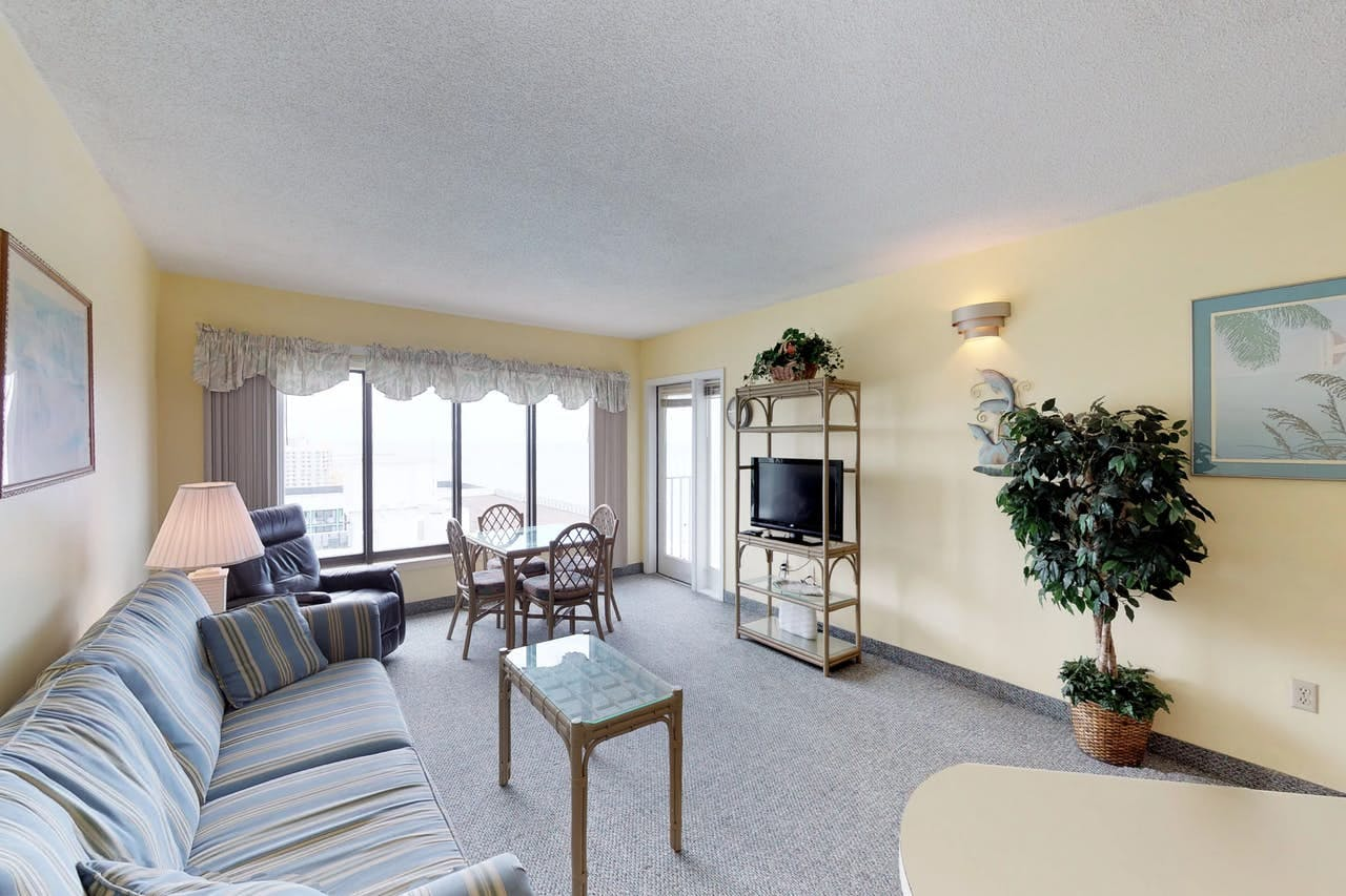 Light and airy oceanfront condo located steps away from the beach in Myrtle Beach, SC
