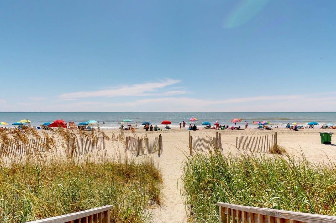 View of sandy beach in Myrtle Beach