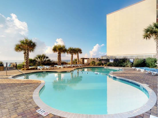oceanfront pool in Myrtle Beach, South Carolina