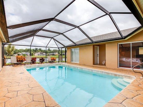 Vacation rental indoor pool in Naples, FL