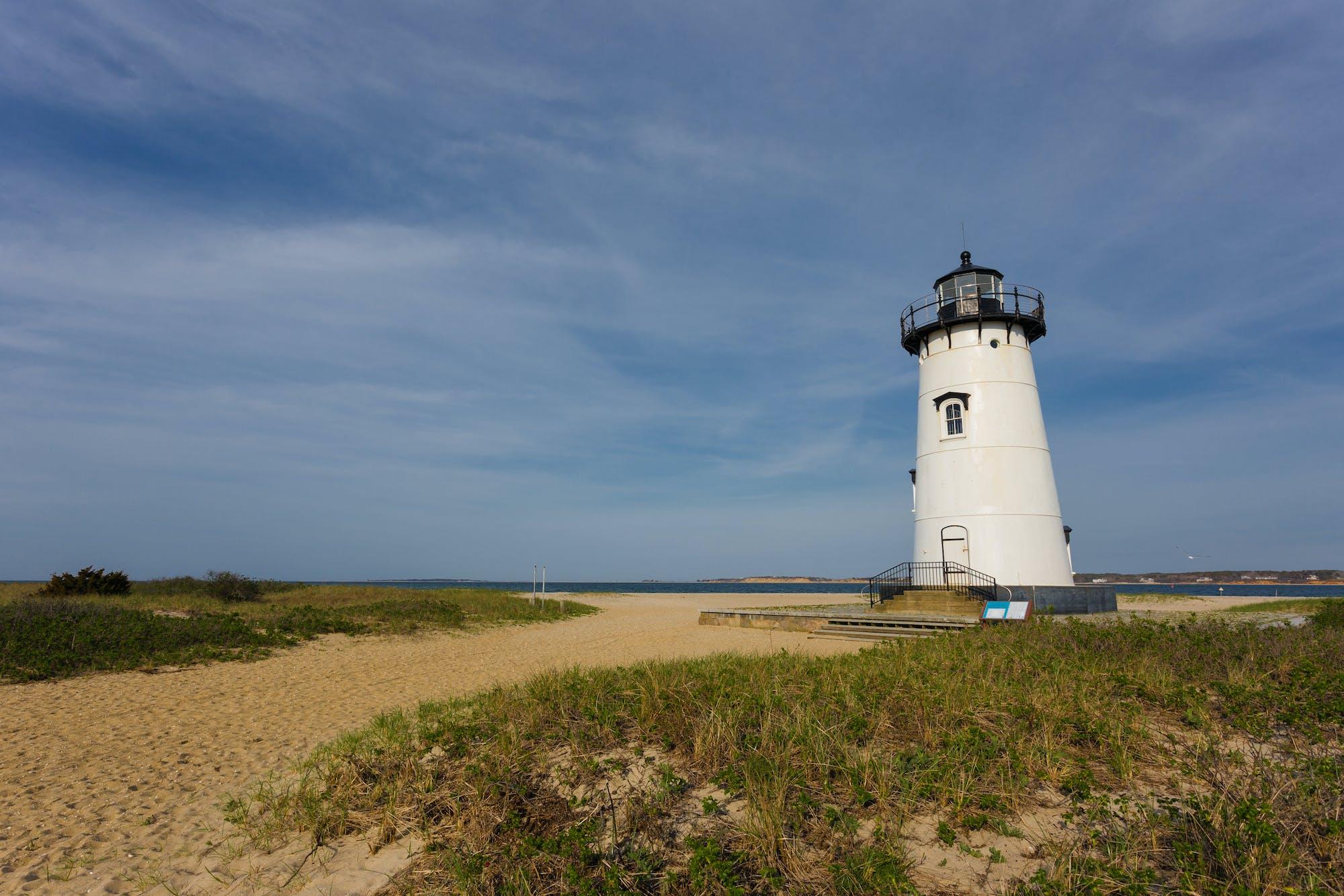 Lighthouse at Oak Bluffs on Martha's Vineyard, Massachusetts