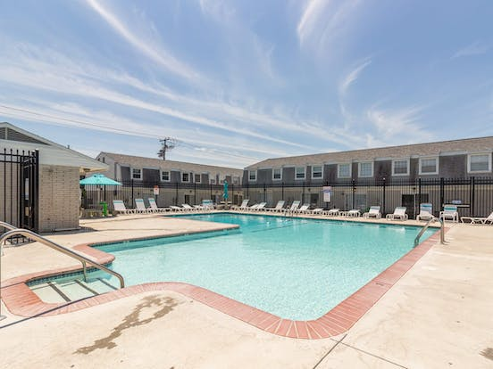 Vacation rental pool in Ocean City