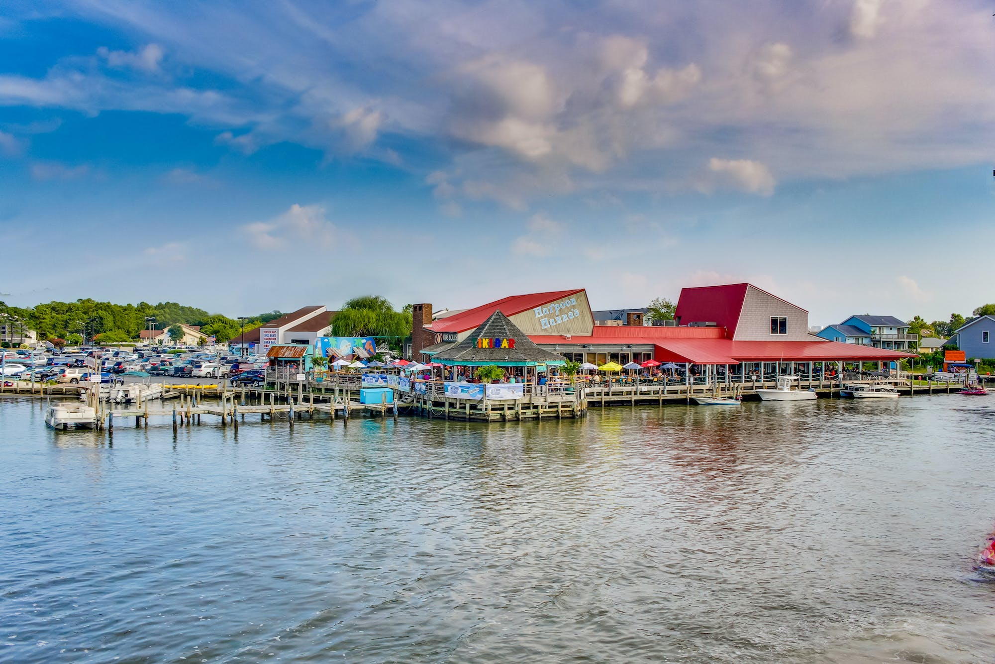 Dock and dockside dining located in Ocean City, Maryland