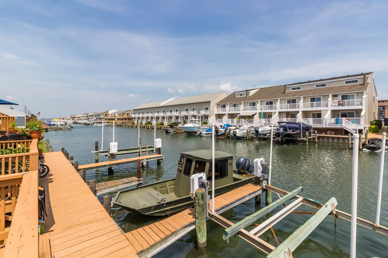 Seaside vacation condo with dock access located in Ocean City, MD