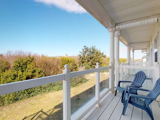 Patio with ocean views in Ocean Shores, WA