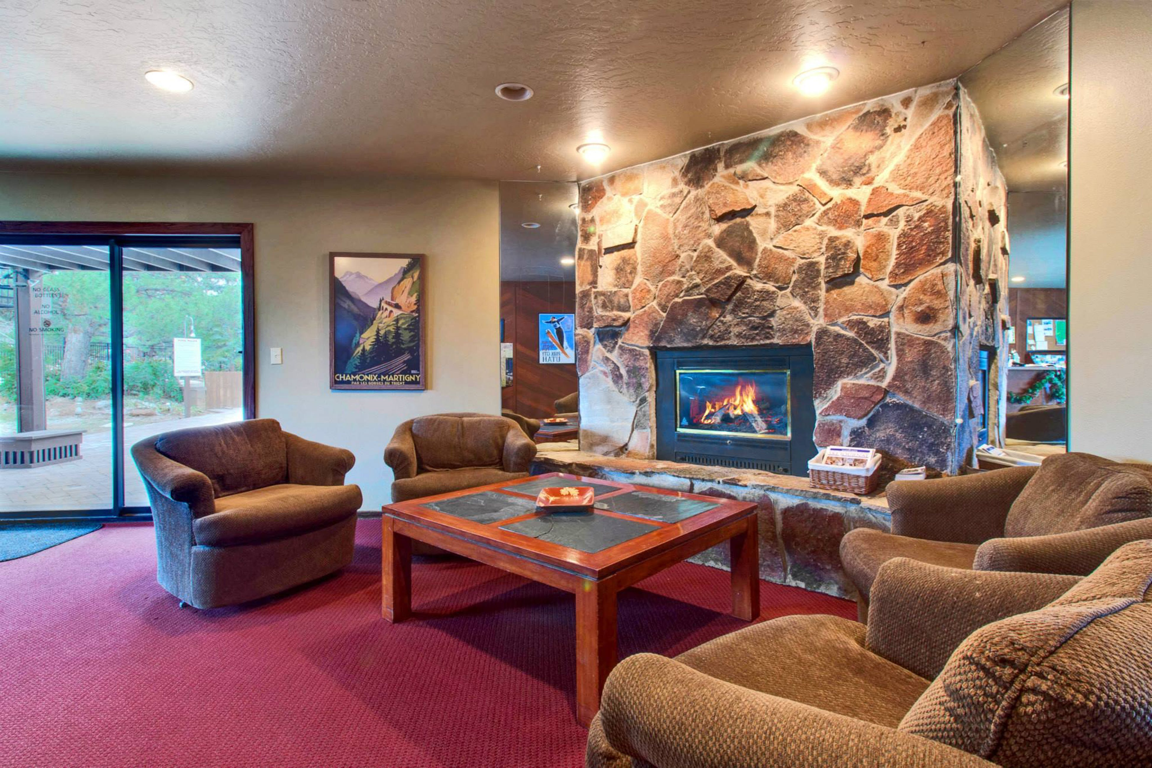Cozy sitting area located in Canyons Village in Park City, Utah