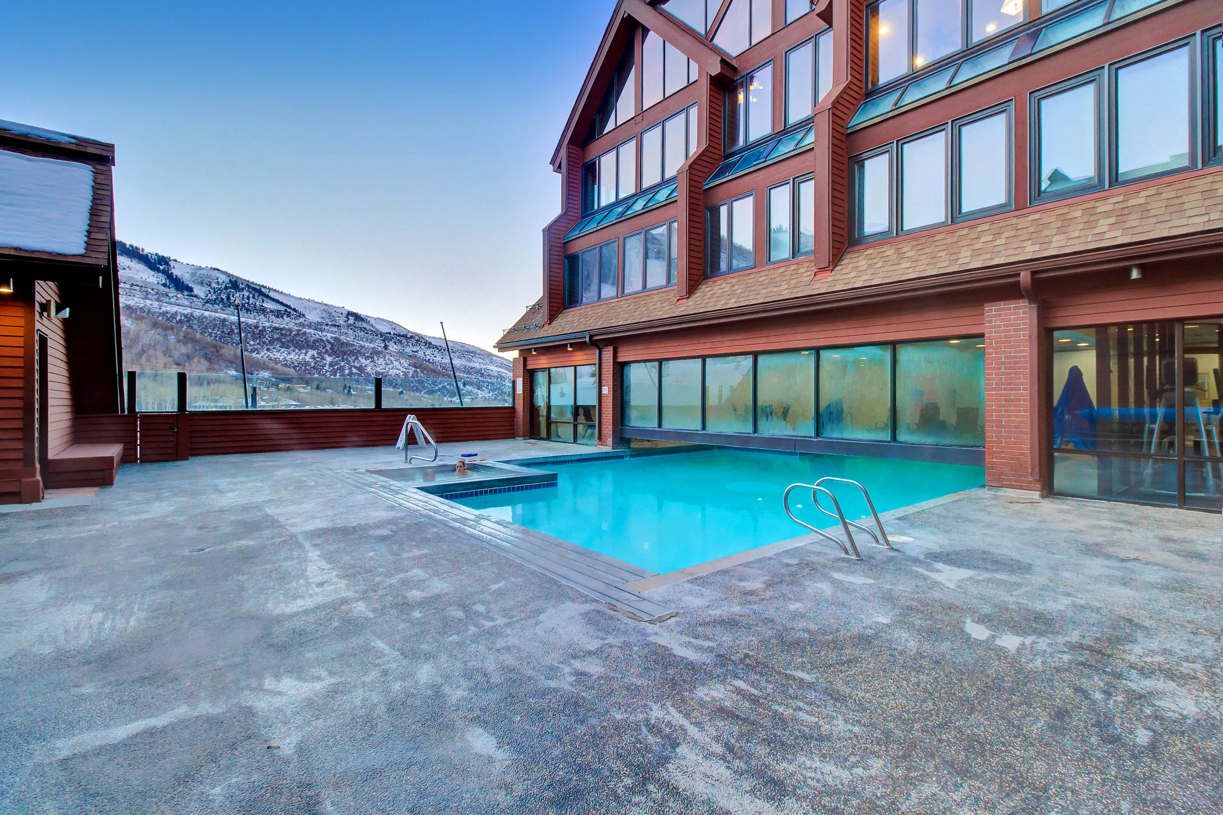 Outdoor pool located at a Park City, Utah vacation rental