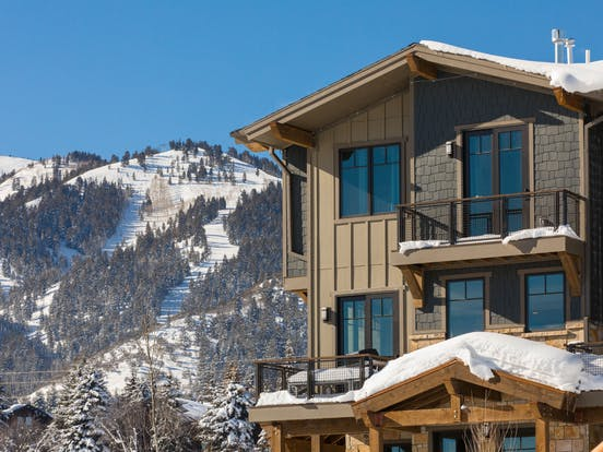 Beautiful mountain backdrop next to Blackstone Canyon vacation home in Park City