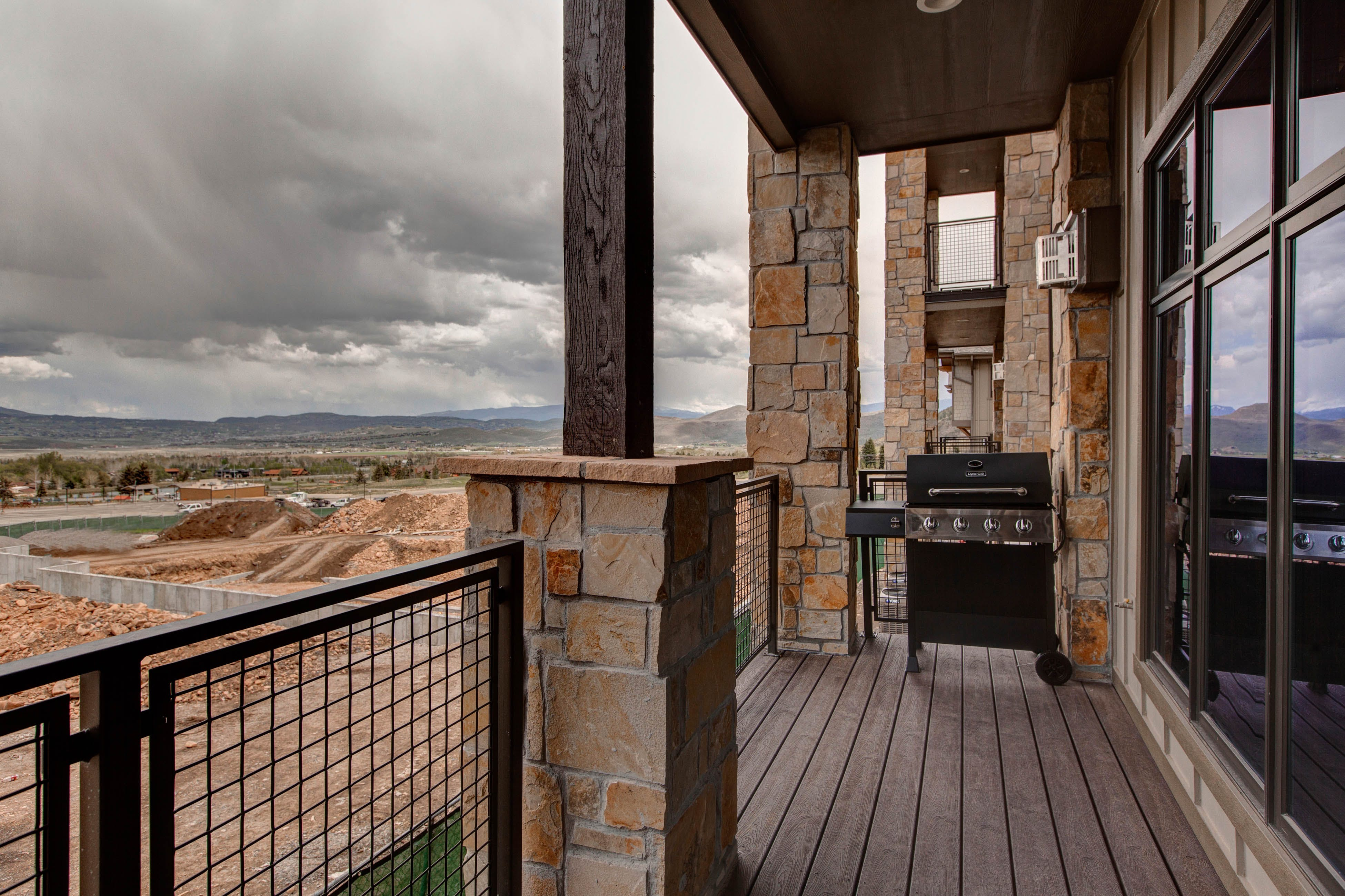 Outdoor grill and amazing views of Park City, Utah