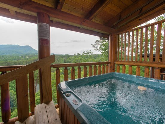 Vacation cabin with private hot tub and views of Sevierville, TN