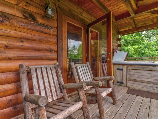 Front porch of Gatlinburg, TN vacation cabin