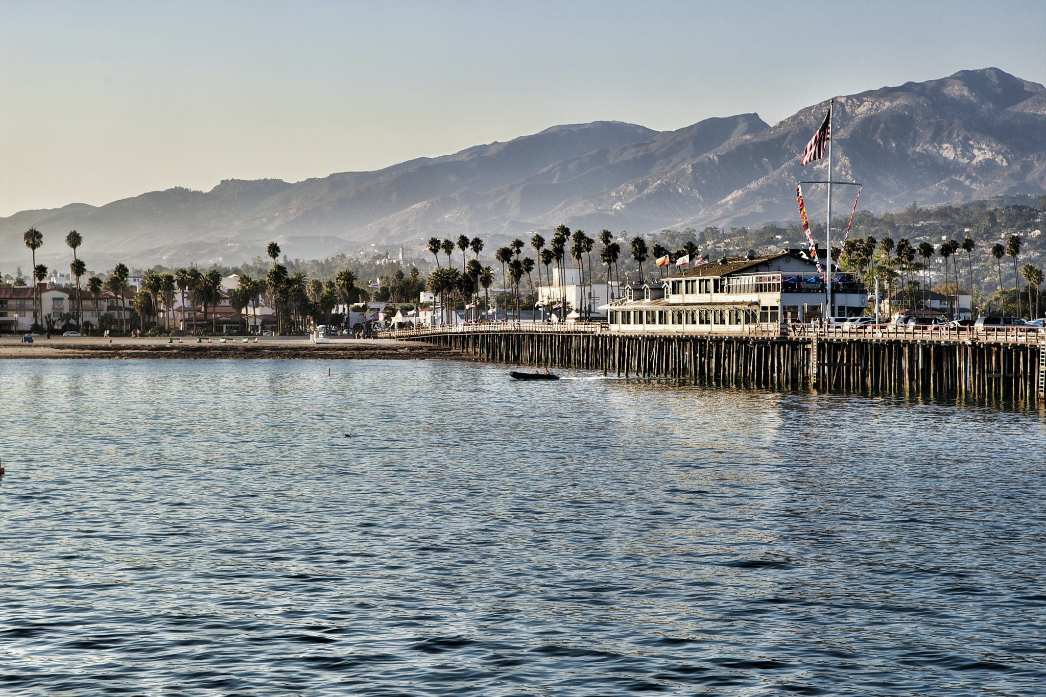 the pier on a sunny day in Santa Barbara