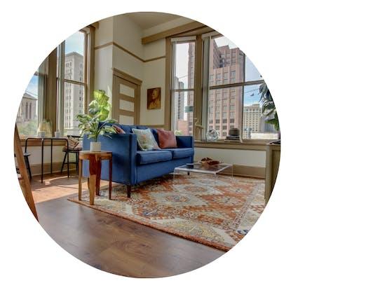 professionally designed home by Vacasa Interior Design Team