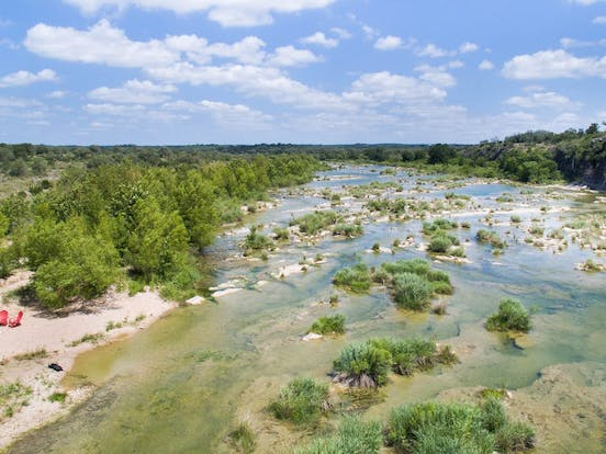Pedernales River in Johnson City, TX