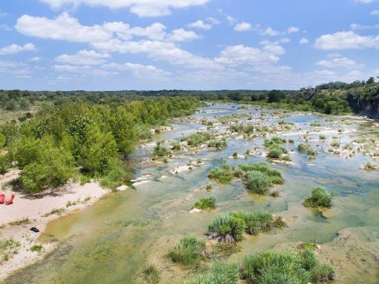 Pedernales River in Johnson City, TX