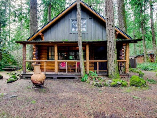charming log cabin in brightwood, or