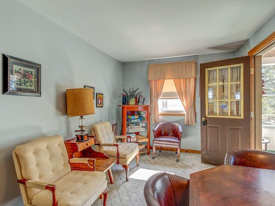 Living area of vacation rental located in South Hero, VT