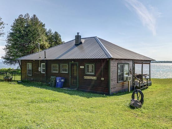Exterior of vacation rental located on Lake Champlain, VT