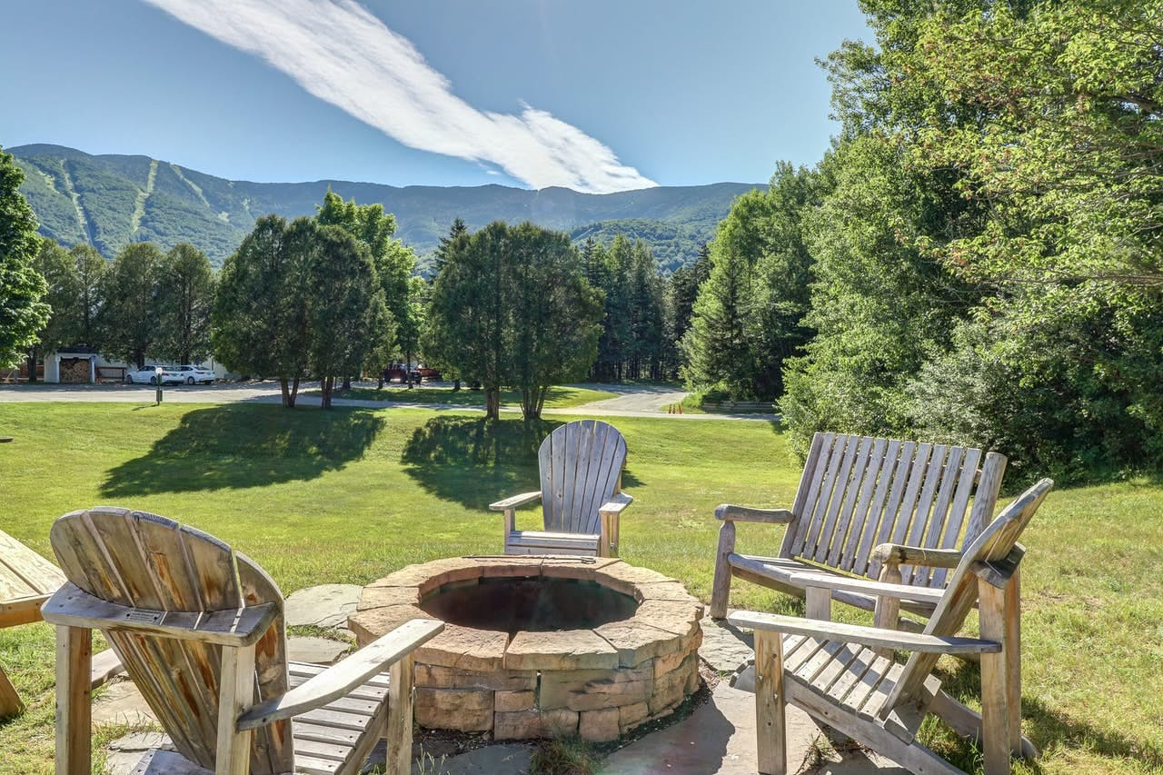 Outdoor firepit in Warren, VT