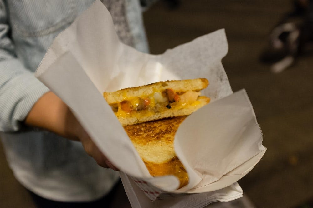 Poached lobster grilled cheese at Devilicious