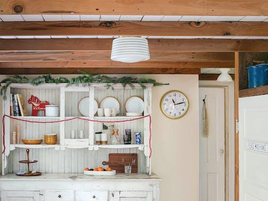 Swedish Stuga vacation rental holiday themed cabinets