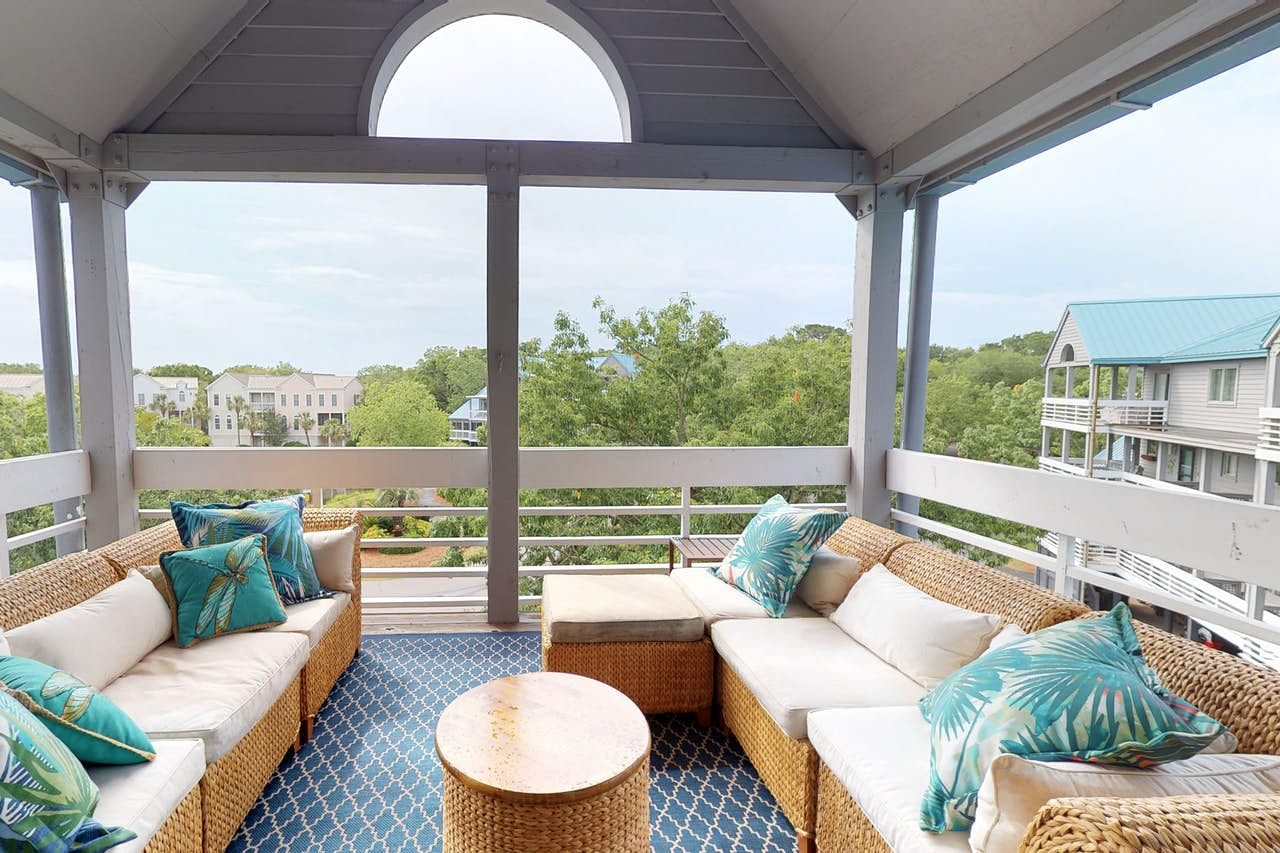 the top deck of 2418 Racquet Club in Seabrook Island