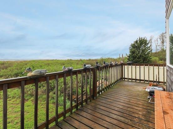 Deck of Sequim vacation rental
