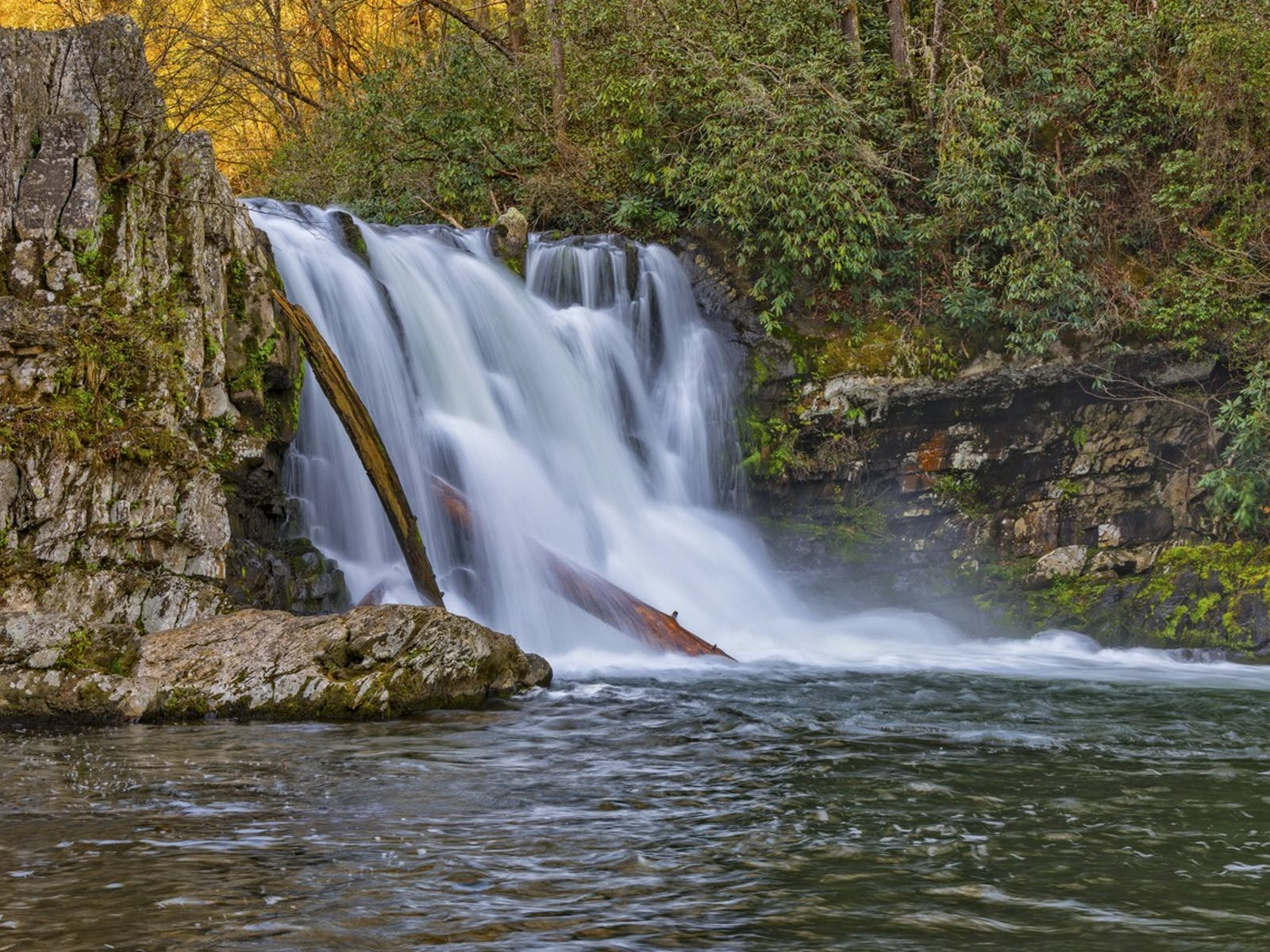Waterfall located in the Smoky Mountains