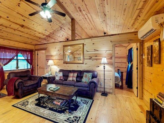 Interior of Fredericksburg, TX vacation cabin