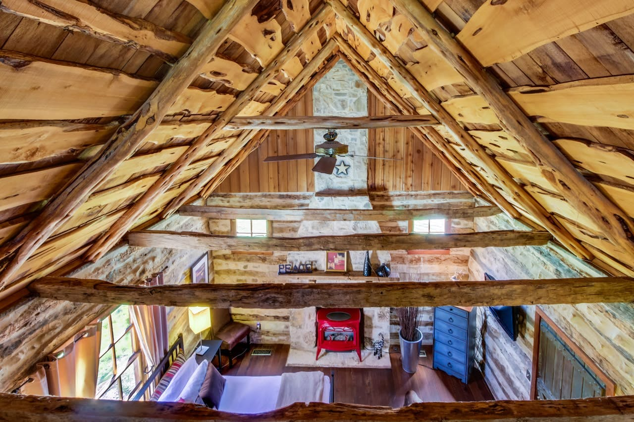 View from loft of Fredericksburg, TX cabin rental