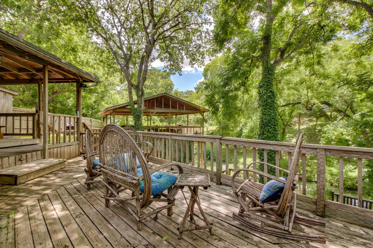 Large deck of New Braunfels, TX vacation rental