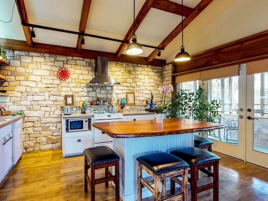 Gorgeous kitchen of Wimberley, TX vacation rental