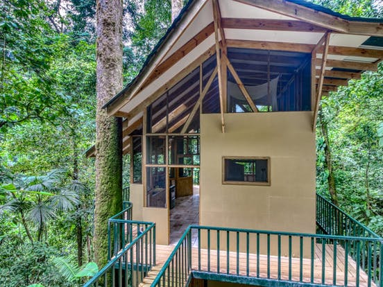 Treehouse vacation rental in Costa Rica surrounded by rainforest