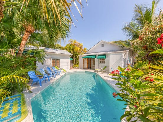 outdoor pool of Key West bungalow