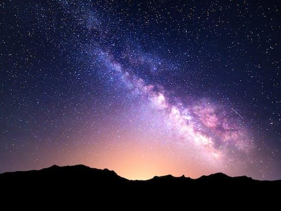 the stars in the night sky
