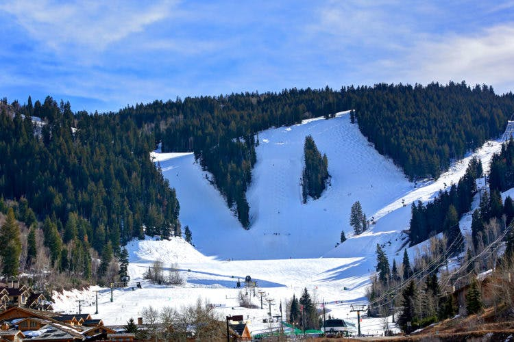 the main ski runs at Deer Valley