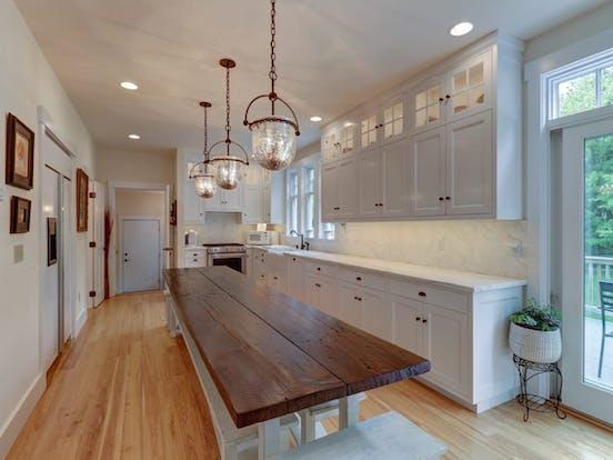 Vacation rental kitchen in Vermont